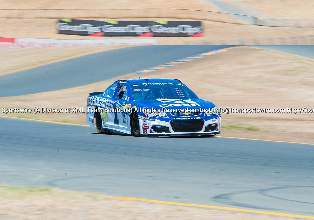 SONOMA, CA - JUNE 24: Monster Energy NASCAR Cup Series driver Jamie McMurray (1) competes as he qualifies second during qualifying at the NASCAR Monster Energy Cup Series- Toyota/Save Mart 350 at Sonoma Raceway  in Sonoma,CA on June 24rd, 2017 (Photo by Samuel Stringer/Icon Sportswire)