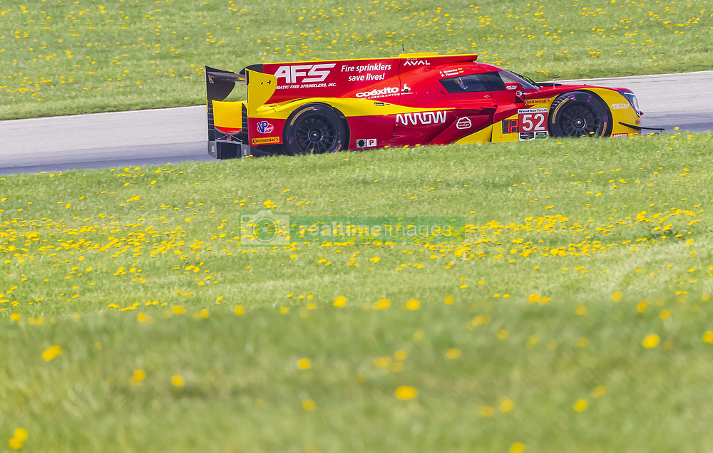 May 4, 2018 - Lexington, Ohio, United States of America - The AFS PR1 Mathiasen Motorsport Ligier LMP2 car races through the turns at the Acura Sports Car Challenge at Mid Ohio Sports Car Course in Lexington, Ohio. (Credit Image: © Walter G Arce Sr Asp Inc/ASP via ZUMA Wire)