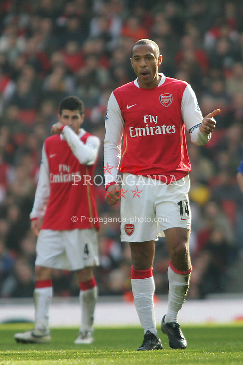 London, England - Saturday, February 17, 2007: Arsenal's Thierry Henry in action against Blackburn Rovers during the FA Cup 5th round match at the Emirates Stadium. (Pic by Chris Ratcliffe/Propaganda)