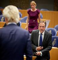 DEN HAAG, 21 september.<br /> Algemene Politieke Beschouwingen, daags na Prinsjesdag. Wilders en Pechtold. FOTO MARTIJN BEEKMAN