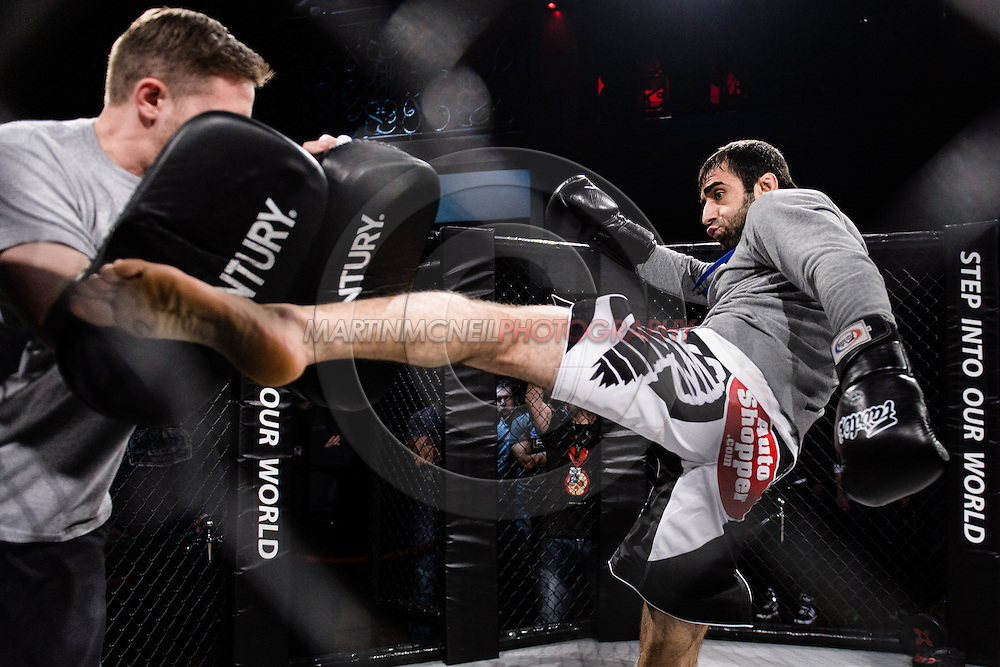 "LONDON, ENGLAND, MARCH 5, 2014: Omari Akhmedov is pictured at the media open work-out sessions for ""UFC Fight Night: Gustafsson vs. Manuwa"" inside One Embankment in London, England (Martin McNeil for ESPN)"