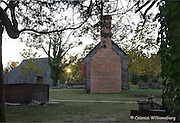 Great Hopes Plantation at sunset at Colonial Williamsburg.
