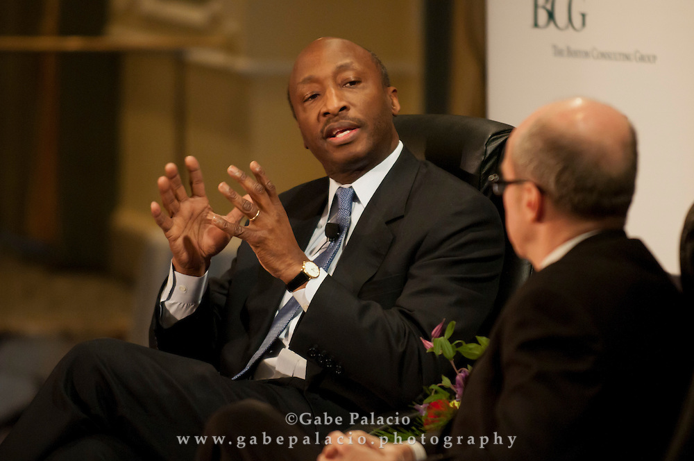 The Wall Street Journal Viewpoints Executive Breakfast Series featuring Kenneth C. Frazier, CEO of Merck, at the Pierre Hotel in New York on Dec. 13, 2011.  (photo by Gabe Palacio)