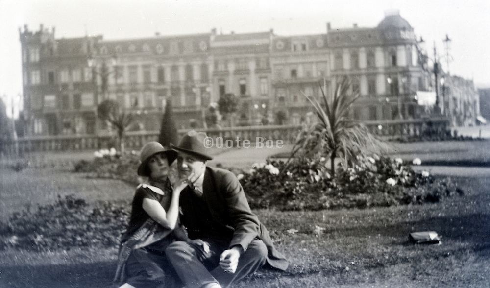 young adult couple casual posing 1920s