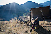 15 July 2011. White Hill, Tebellong hospital, Qacha's Nek, Lesotho. Inhabitants of this village in the interior of Lesotho, benefit from the proximity to the only clinic for miles in the area.