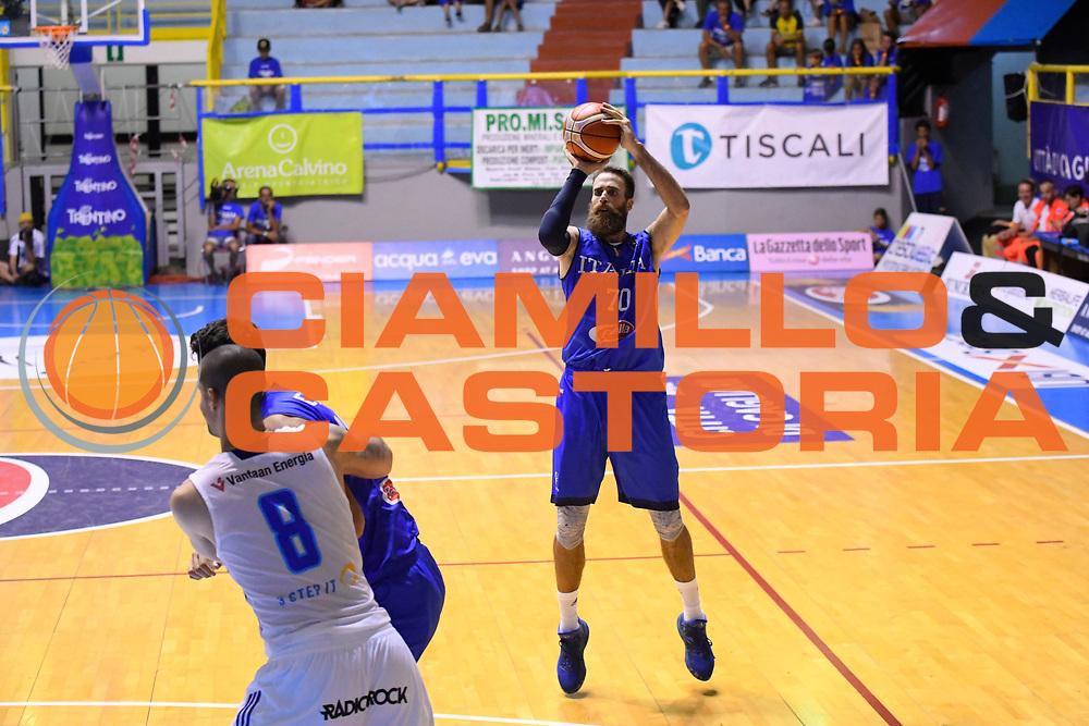 Luigi Datome<br /> Italia - Finlandia<br /> Nazionale Italiana Maschile<br /> Torneo Sardegna a Canestro 2017<br /> Cagliari 11/08/2017<br /> Foto Ciamillo-Castoria