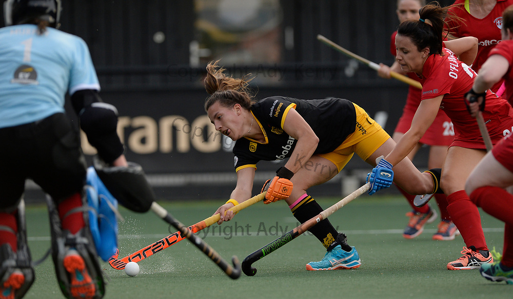 Den Bosch's Frederique Matla shoots at goal against Monkstown during their opening game of the EHCC 2017 at Den Bosch HC, The Netherlands, 2nd June 2017