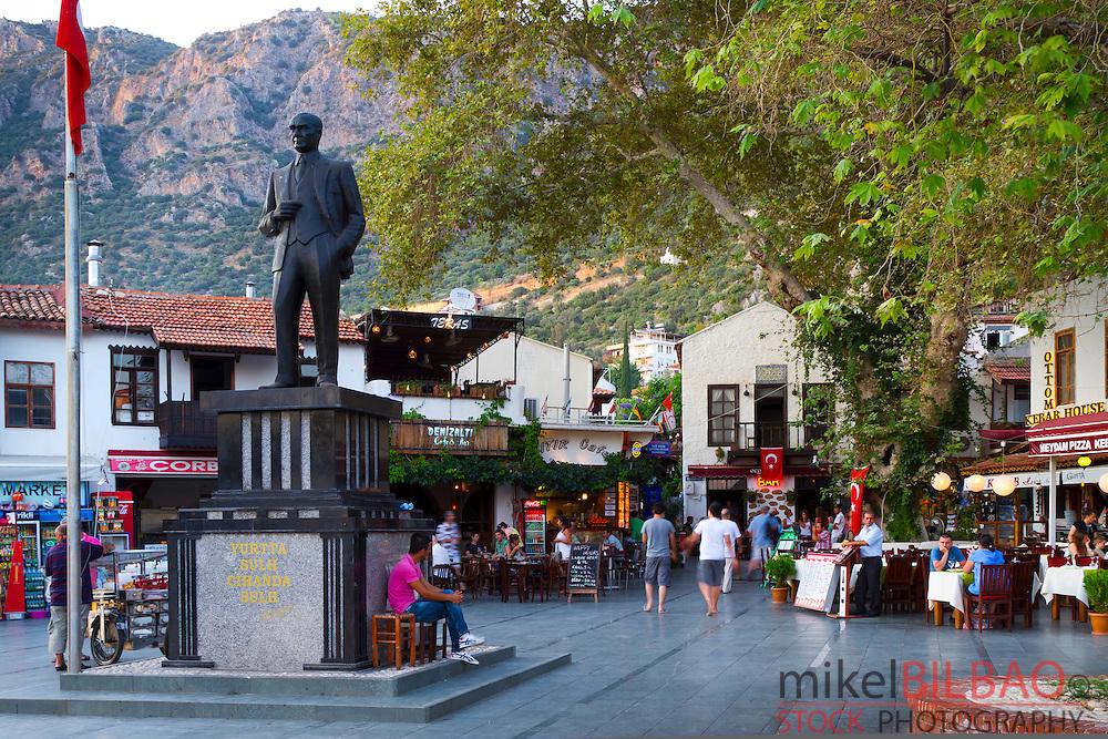 Street view. Kas. Antalya province, mediterranean coast. Turkey.
