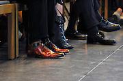 Nederland, Nijmegen, 20-5-2011De uit Nijmegen afkomstige Schoenenontwerper Jan Jansen krijgt de Karel de Grote oevreprijs van deze gemeente uitgereikt in de St. Stevenskerk.Foto: Flip Franssen/Hollandse Hoogte