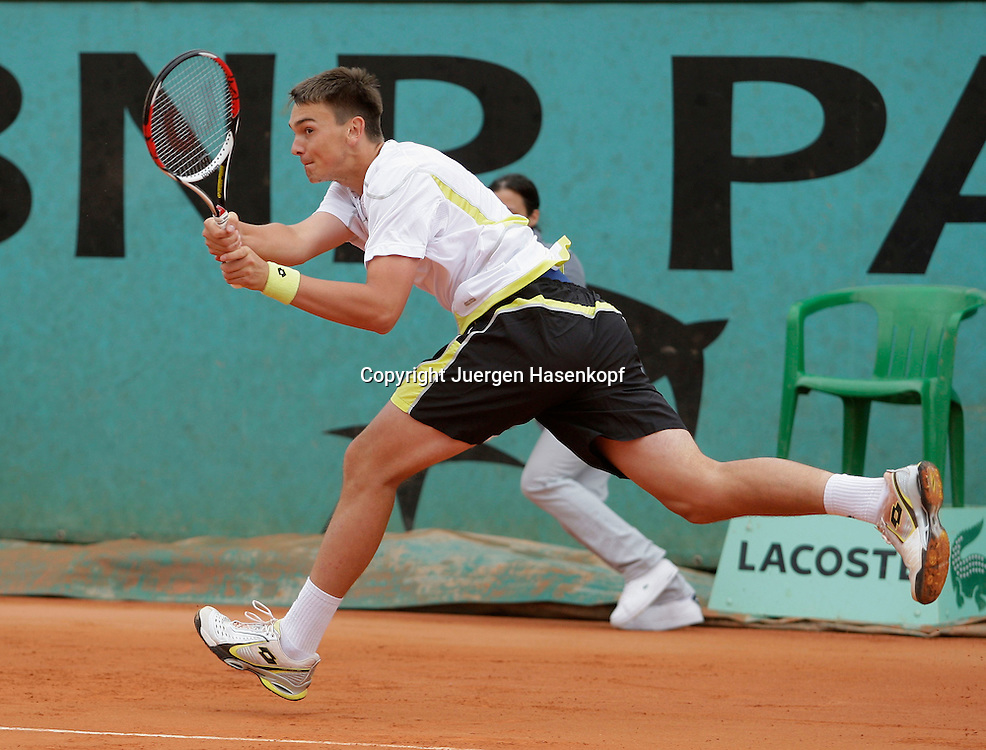 French Open 2009, Roland Garros, Paris, Frankreich,Sport, Tennis, ITF Grand Slam Tournament,..Andreas Beck (GER).  ..Foto: Juergen Hasenkopf..