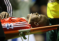 Photo: Rich Eaton.<br /> <br /> Birmingham City v Liverpool. Carling Cup. 08/11/2006. Momo Sissoko of Liverpool leaves the field on a stretcher in the first half