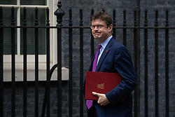 © Licensed to London News Pictures. 06/11/2018. London, UK. Secretary of State for Business, Energy and Industrial Strategy Greg Clarke arriving in Downing Street to attend a Cabinet meeting this morning. Photo credit : Tom Nicholson/LNP