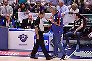 DESCRIZIONE : Sassari Lega A 2014-2015 Banco di Sardegna Sassari Grissinbon Reggio Emilia Finale Playoff Gara 6 <br /> GIOCATORE : Romeo Sacchetti Tolga Sahin arbitro<br /> CATEGORIA : arbitro delusione fairplay<br /> SQUADRA : Banco di Sardegna Sassari arbitro<br /> EVENTO : Campionato Lega A 2014-2015<br /> GARA : Banco di Sardegna Sassari Grissinbon Reggio Emilia Finale Playoff Gara 6 <br /> DATA : 24/06/2015<br /> SPORT : Pallacanestro<br /> AUTORE : Agenzia Ciamillo-Castoria/GiulioCiamillo<br /> GALLERIA : Lega Basket A 2014-2015<br /> FOTONOTIZIA : Sassari Lega A 2014-2015 Banco di Sardegna Sassari Grissinbon Reggio Emilia Finale Playoff Gara 6<br /> PREDEFINITA :