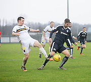 Dumbarton&rsquo;s Mark Docherty and Dundee&rsquo;s Rory Loy - Dumbarton v Dundee, William Hill Scottish Cup fifth round at The Cheaper Insurance Direct Stadium <br /> <br />  - &copy; David Young - www.davidyoungphoto.co.uk - email: davidyoungphoto@gmail.com