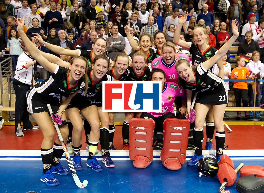 BERLIN - Indoor Hockey World Cup<br /> Quarterfinal 3: Germany - Poland<br /> foto: German team picture.<br /> WORLDSPORTPICS COPYRIGHT FRANK UIJLENBROEK