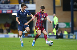 Luke Garbutt of Ipswich Town on the ball under pressure from Tom Hopper of Southend United - Mandatory by-line: Arron Gent/JMP - 27/10/2019 - FOOTBALL - Roots Hall - Southend-on-Sea, England - Southend United v Ipswich Town - Sky Bet League One
