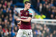 West Ham  (41) Declan Rice during the Premier League match between Chelsea and West Ham United at Stamford Bridge, London, England on 8 April 2018. Picture by Sebastian Frej.