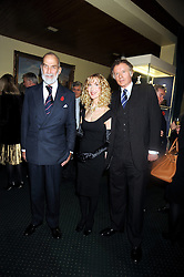 Left to right, HRH PRINCE MICHAEL OF KENT and RICHARD & BASIA BRIGGS at a reception to support The Hyde Park Appeal held in the officers Mess, Household Cavalry Mounted Regiment, Hyde Park Barracks, London SW1 on 10th November 2008.
