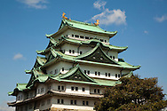 During the Edo period, Nagoya Castle was the center of one of the most important castle towns in Japan and was an important stops along the Tokaido trail.  Until the Meiji Era the castle was the home of the Owari clan of the Tokugawa family.  The Castle was destroyed during World War II but the donjon has been rebuilt.