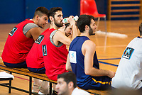 Willy Hernangomez, Guillem Vives, Joan Sastre and Alex Abrines during the Spain training session before EuroBasket 2017 in Madrid. August 02, 2017. (ALTERPHOTOS/Borja B.Hojas)