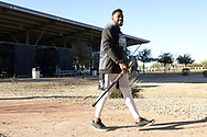 GLENDALE, ARIZONA - FEBRUARY 19: Miker Adolfo #77 of the Chicago White Sox looks on during spring training workouts on February 19, 2019 at Camelback Ranch in Glendale Arizona.  (Photo by Ron Vesely). Subject:   Miker Adopfo
