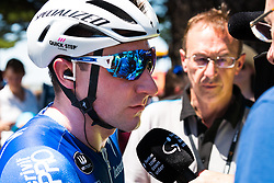 January 18, 2018 - Victor Harbor, South Australia, Australia - Winner Elia Viviani of Team Quick Step Floors wins Stage 3, Glenelg to Victor Harbor, of the Tour Down Under, Australia on the 18 of January 2018  (Credit Image: © Gary Francis via ZUMA Wire)