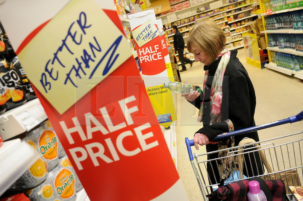 """© under license to London News Pictures. 09/12/14. FILE PICTURE: Tesco has warned today 9th December 2014, its full-year profits will be substantially below market expectations. The supermarket chain said its group trading profit for the full financial year """"will not exceed £1.4bn"""", below the £1.8bn to £2.2bn range expected by markets. The downgraded guidance follows its admission earlier this year that it had misstated its profits by £263m. Picture credit Grant Falvey/LNP"""