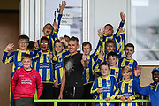 Hardwicke U12's with Forest Green Rovers Chairman Dale Vince during the EFL Sky Bet League 2 match between Forest Green Rovers and Port Vale at the New Lawn, Forest Green, United Kingdom on 8 September 2018.