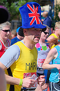 London. United Kingdom. 2014 London Marathon.  Narrow Street Limehouse, East London. Athletics 12:40:47  Sunday  13/04/2014  [Mandatory Credit; Peter SPURRIER/ Intersport Images],