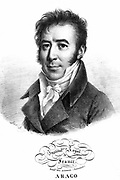 Dominique Francois Jean Arago (1786-1853) French astronomer, physicist and politician. Lithograph after portrait by Julien Boilly.