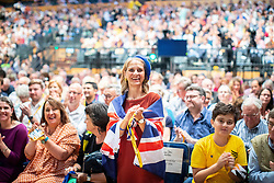 © Licensed to London News Pictures . 15/09/2019. Bournemouth, UK. Lib Dem members cheer as the party votes to pass a motion to revoke article 50 should they form the next government. The Liberal Democrat Party Conference at the Bournemouth International Centre . Photo credit: Joel Goodman/LNP