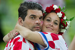 Fans of Croatia after the UEFA EURO 2012 group C match between  Croatia and Spain at PGE Arena Gdansk on June 18, 2012 in Gdansk / Danzig, Poland. Spain defeated Croatia and qualified to Quarterfinals. (Photo by Vid Ponikvar / Sportida.com)