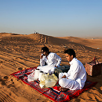 In the desert, the youths can be free of supervision from parents and religious police. Left, Enad and his friend Bandar al-Bedeiry spent an afternoon away from the city. March 2008.