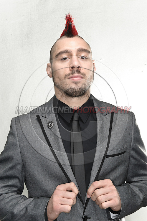 A portrait of mixed martial arts athlete Dan Hardy