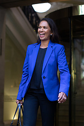 © Licensed to London News Pictures. 24/09/2019. London, UK. Anti-Brexit campaigner and businesswoman Gina Miller leaves media studios in Westminster, following a historic ruling by the Supreme Court this morning that Boris Johnson's decision to suspend Parliament for five weeks was unlawful. Photo credit : Tom Nicholson/LNP