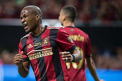 December 8, 2018 - Atlanta, Georgia, United States - Atlanta United midfielder DARLINGTON NAGBE (6) reacts to a missed shot on goal during the MLS Cup at Mercedes-Benz Stadium in Atlanta, Georgia.  Atlanta United defeats Portland Timbers 2-0 (Credit Image: © Mark Smith/ZUMA Wire)