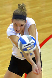 23 November 2017:  Kyla Inderski during a college women's volleyball match between the Drake Bulldogs and the Indiana State Sycamores in the Missouri Valley Conference Tournament at Redbird Arena in Normal IL (Photo by Alan Look)