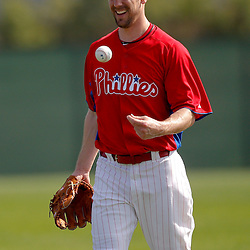 February 22, 2011; Clearwater, FL, USA; Philadelphia Phillies starting pitcher Cliff Lee (33) during spring training at Bright House Networks Field. Mandatory Credit: Derick E. Hingle-US PRESSWIRE