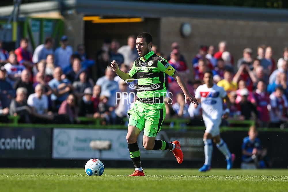 Forest Green Rovers Liam Noble(15) runs forward during the Vanarama National League Play Off second leg match between Forest Green Rovers and Dagenham and Redbridge at the New Lawn, Forest Green, United Kingdom on 7 May 2017. Photo by Shane Healey.