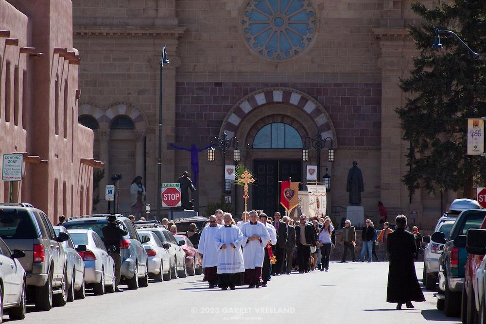 2010 Palm Sunday Celebration on the Santa Fe, New Mexico Plaza.