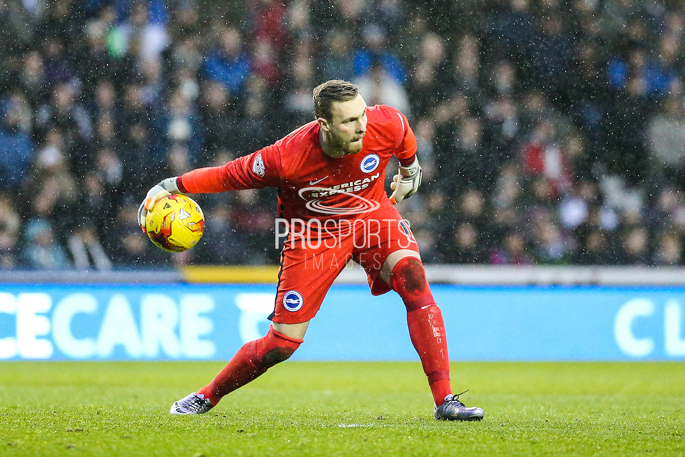 Brighton's goalkeeper David Stockdale during the Sky Bet Championship match between Derby County and Brighton and Hove Albion at the iPro Stadium, Derby, England on 12 December 2015. Photo by Shane Healey.
