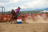 Barrel Racing, rodeo, Wilsall, Montana, Ashlee Boucher, <br /> MODEL RELEASED, PROPERTY RELEASED