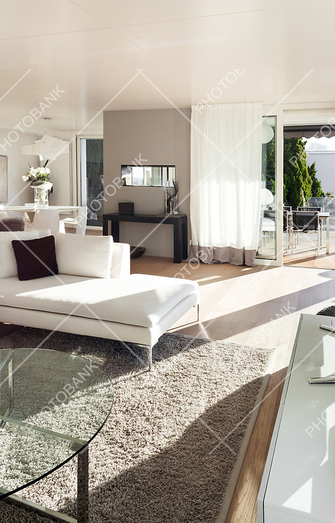 beautiful interiors of a modern house, living room
