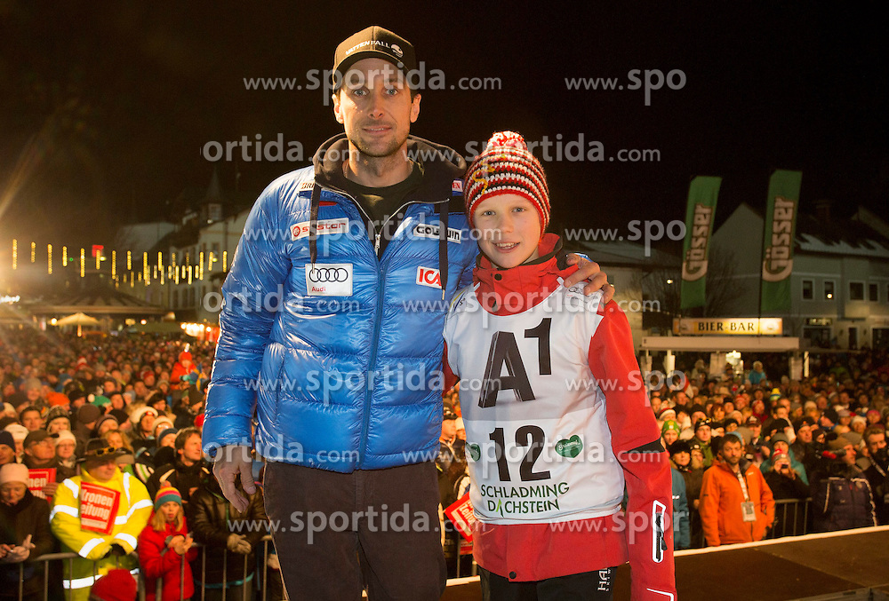26.01.2015, Planai, Schladming, AUT, FIS Skiweltcup Alpin, Schladming, Startnummernauslosung, im Bild Markus Larsson (SWE) // Markus Larsson (SWE) during the drawing of the starting numbers for the men's slalom of Schladming FIS Ski Alpine World Cup at the Planai Course in Schladming, Austria on 2015/01/26, EXPA Pictures © 2015, PhotoCredit: EXPA/ Erwin Scheriau