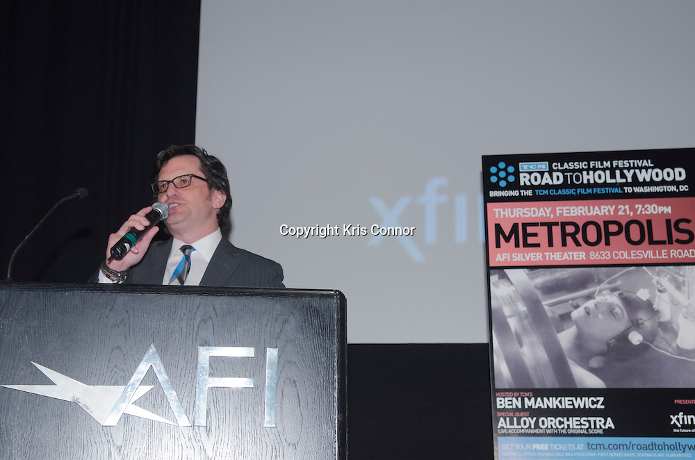 Ben Mankiewicz speaks during the METROPOLIS Screening at the AFI Sliver Theatre in Silver Spring, Md on February 21, 2013. Photo by Kris Connor/Allied-THA