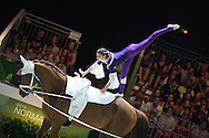 Daniela Fritz, (AUT), Caramel, Maria Lehrmann - Individuals Women Final Vaulting - Alltech FEI World Equestrian Games&trade; 2014 - Normandy, France.<br /> &copy; Hippo Foto Team - Jon Stroud<br /> 05/09/2014