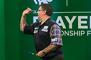 Gary Anderson during the PDC Darts Players Championship at  at Butlins Minehead, Minehead, United Kingdom on 24 November 2017. Photo by Shane Healey.
