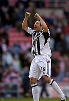 Photo: Jed Wee.<br />Sunderland v Newcastle United. The Barclays Premiership. 17/04/2006.<br /><br />Newcastle's Michael Chopra celebrates at the final whistle.