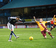 Dundee new boy Arturo came close to winning all three points with this injury time effort - Dundee v Motherwell, Ladbrokes Premiership at Dens Park <br /> <br />  - &copy; David Young - www.davidyoungphoto.co.uk - email: davidyoungphoto@gmail.com