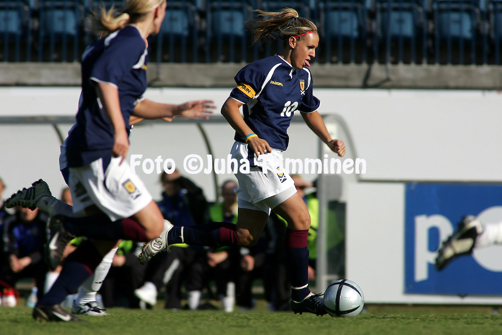 20.05.2005, Veritas Stadion, Turku, Finland..Women's Friendly International Match, Finland v Scotland..Julie Fleeting - Scotland.©Juha Tamminen.....ARK:k